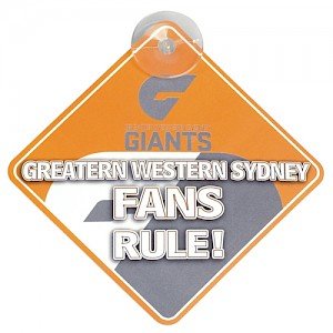Greater Western Sydney Giants Car Sign