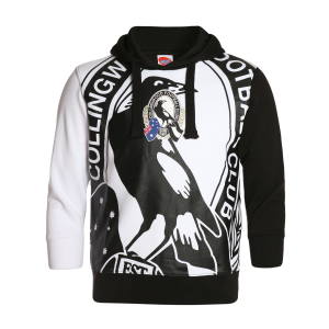 Collingwood Magpies Youth Supporter Pullover Hood - Size 6