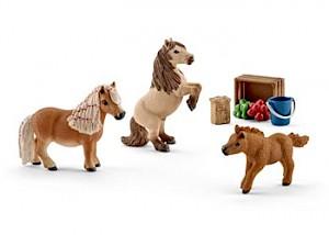 SC41432 Schleich – Miniature Shetland Pony Family