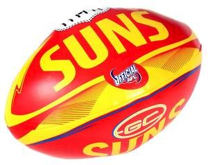 "Gold Coast Suns 6"" Soft Footy"