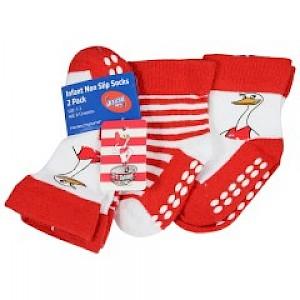 Sydney Swans Infant 2pk Non Slip Crew Socks - 0-6mths