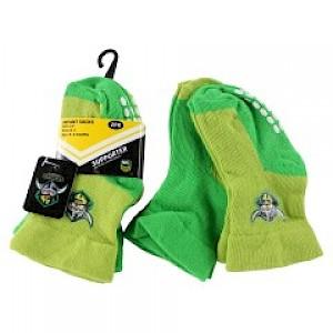 Canberra Raiders Infant 2pk Non Slip Crew Socks - 0-6mths