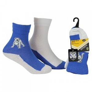 Canterbury-Bankstown Bulldogs Infant 2pk Non Slip Crew Socks - 0-6mths
