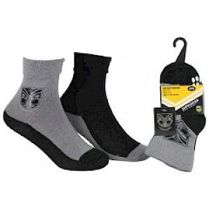 New Zealand Warriors Infant 2pk Non Slip Crew Socks - 0-6mths
