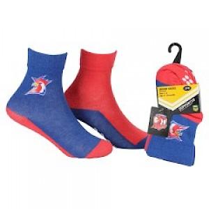Sydney Roosters Infant 2pk Non Slip Crew Socks - 0-6mths