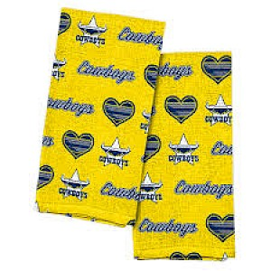 North Queensland Cowboys 2pk Tea Towels