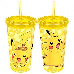 Pokemon Pikachu Tumbler with Straw