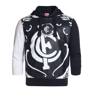 Carlton Blues Youth Supporter Pullover Hood - Size 12