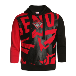 Essendon Bombers Youth Supporter Pullover Hood - Size 12