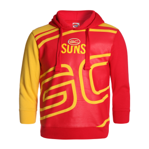 Gold Coast Suns Youth Supporter Pullover Hood - Size 10