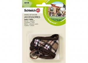 SC42118 Schleich – Blanket + Headstall Brown