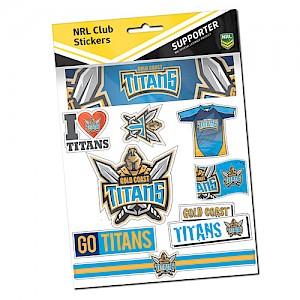 Gold Coast Titans Sticker Sheet