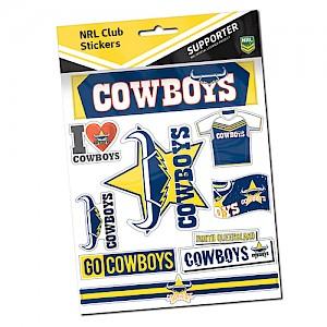 North Queensland Cowboys Sticker Sheet