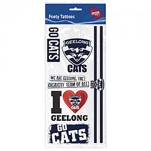 Geelong Cats Tattoo Sheet