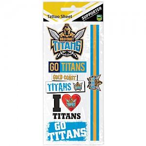 Gold Coast Titans Tattoo Sheet