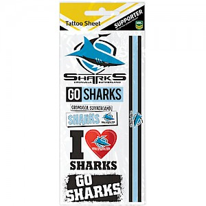 Cronulla-Sutherland Sharks Tattoo Sheet