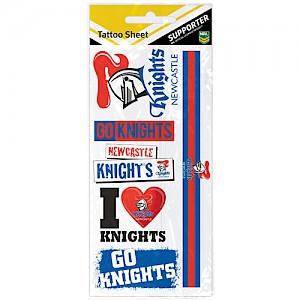 Newcastle Knights Tattoo Sheet