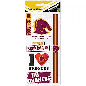Brisbane Broncos Tattoo Sheet
