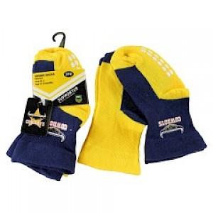 North Queensland Cowboys Infant 2pk Non Slip Crew Socks - 6-12mths