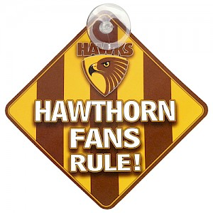 Hawthorn Hawks Car Sign