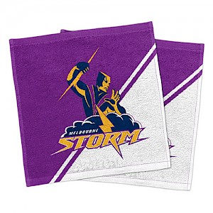 Melbourne Storm Set of 2 Face Washers