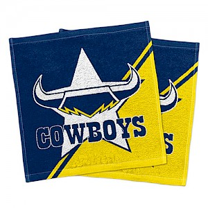 North Queensland Cowboys Set of 2 Face Washers