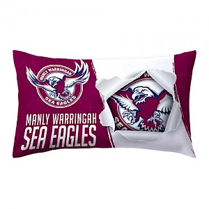 Manly Warringah Sea Eagles Pillow Case