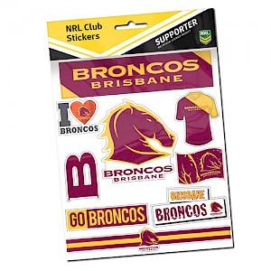 Brisbane Broncos Sticker Sheet