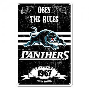 Penrith Panthers Retro Metal Sign