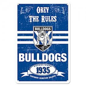 Canterbury-Bankstown Bulldogs Retro Metal Sign