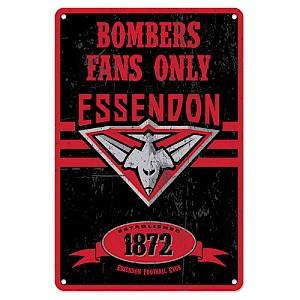 Essendon Bombers Retro Metal Sign