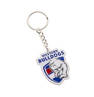 Western Bulldogs Metal Logo Key Ring