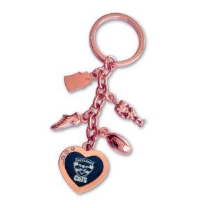 Geelong Cats Charm Key Ring
