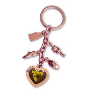 Hawthorn Hawks Charm Key Ring