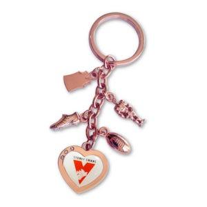 Sydney Swans Charm Key Ring