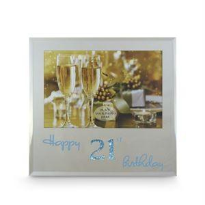 Happy 21st Birthday Frame - Blue