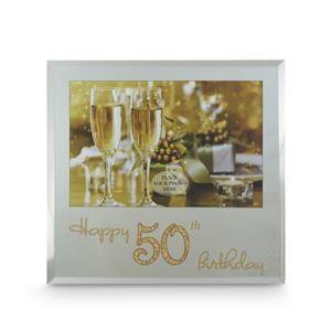 Happy 50th Birthday Frame