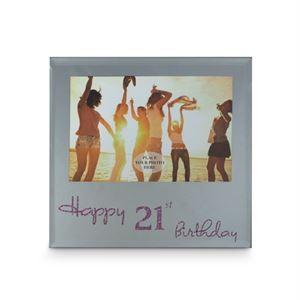Happy 21st Birthday Frame - Pink