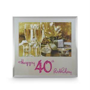 Happy 40th Birthday Frame - Blue