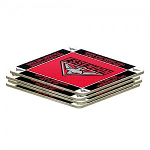 Essendon Bombers 4 Pack Coaster Set