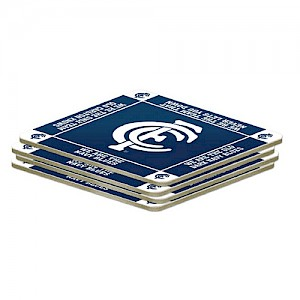 Carlton Blues 4 Pack Coaster Set