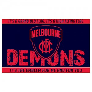 Melbourne Demons Small Flag
