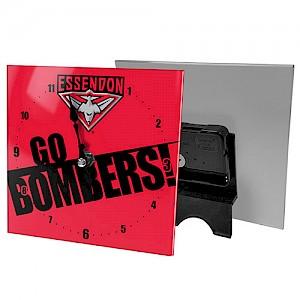 Essendon Bombers Mini Glass Clock