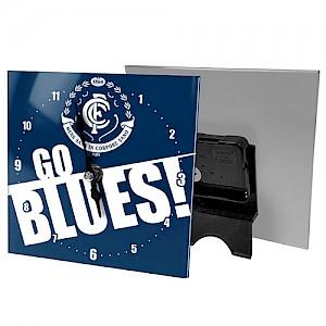 Carlton Blues Mini Glass Clock