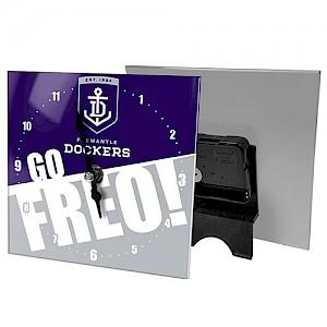 Fremantle Dockers Mini Glass Clock