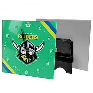 Canberra Raiders Mini Glass Clock