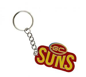 Gold Coast Suns Metal Logo Keyring