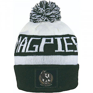 Collingwood Magpies Traditional Bar Beanie