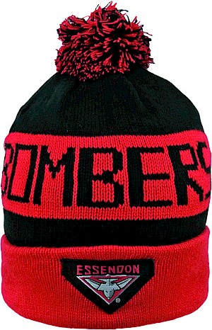 Essendon Bombers Traditional Bar Beanie