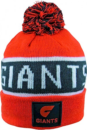 GWS Giants Traditional Bar Beanie